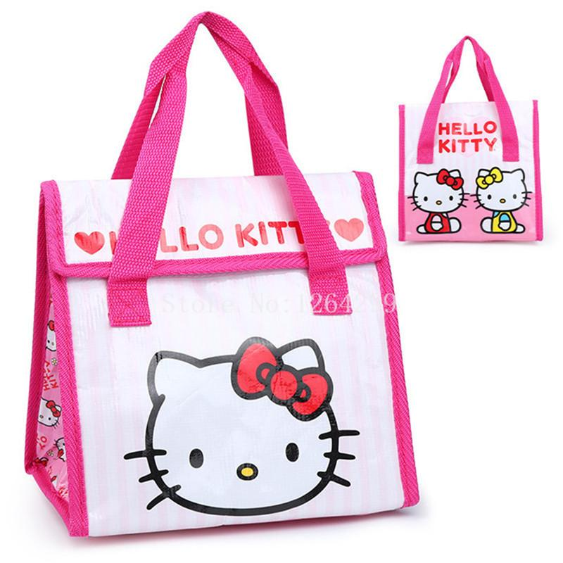 New Fashion Hello Kitty Girls Woman Theraml Lunch Bags Cooler Bag For  Children Over The Shoulder Bags Handbags For Sale From Vanilla13 e77b27b1b9b86