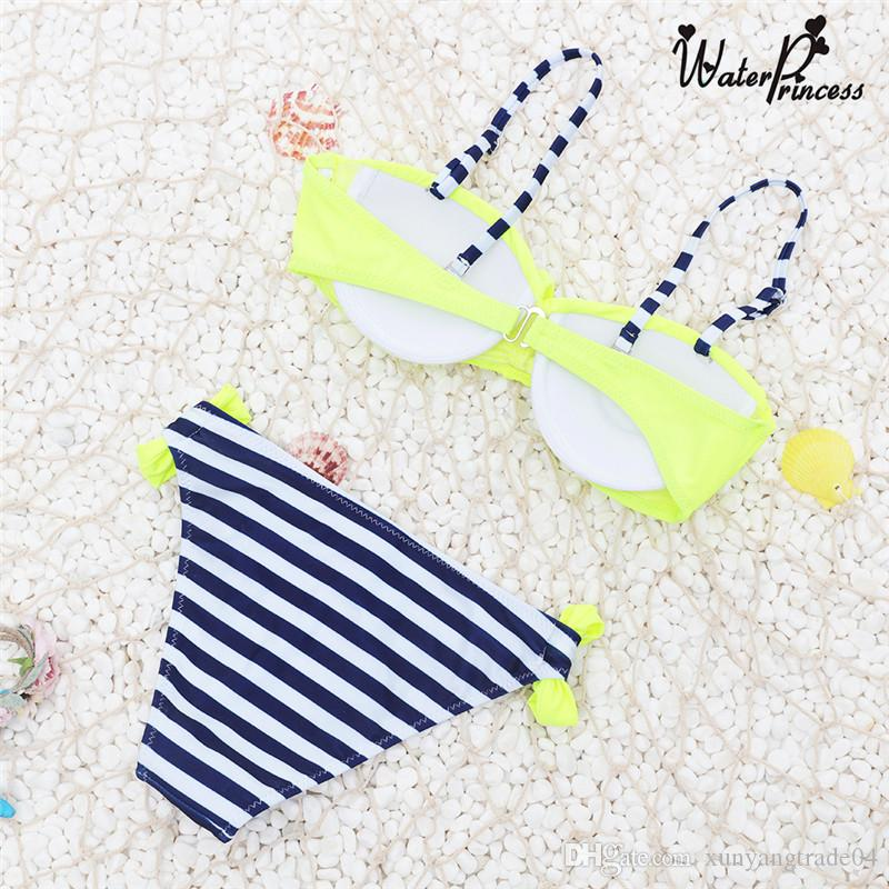 Fashion Women Swimsuit Ladies Girls Sexy Bikini Triangle Tankinis Split Swimsuit Candy Color Bikini Swimwear Bathing Suit 09
