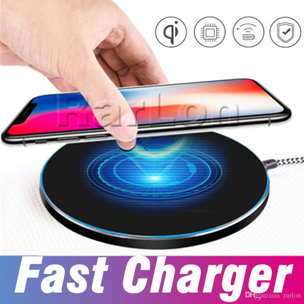Best Charger Qi Fast Wireless Charging Pad Portable Charger For iphone X 8  Plus Samsung Galaxy S8 plus S7 S6 Note8 all Qi-abled devices
