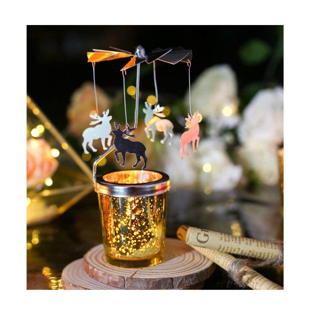 Großhandel Rotary Spinning Teelicht Kerze Metall Teelicht