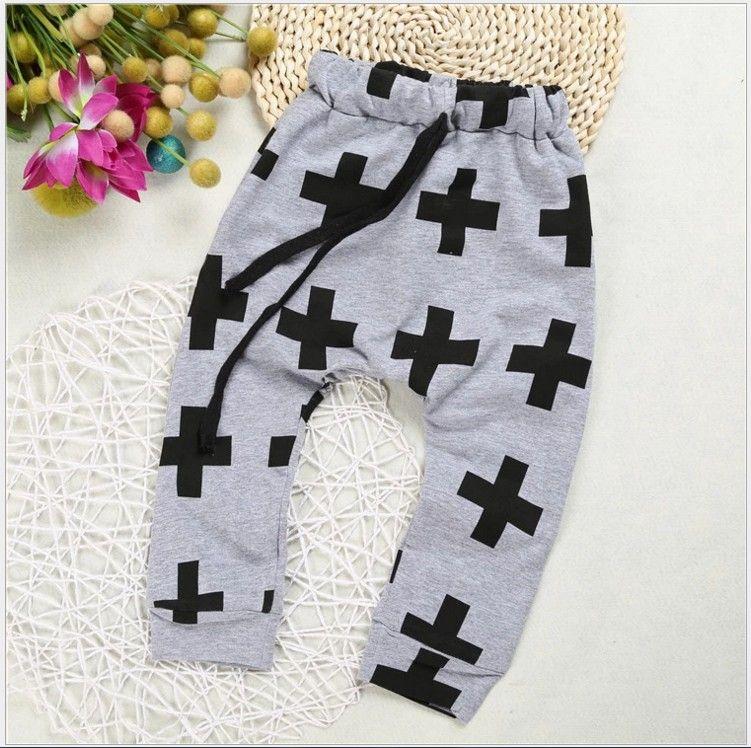 2019 New Boys Girls Cross Harem Pants Kids Casual Thin Harem Pants Children Loose Trousers Boy Girl Leisure Pants