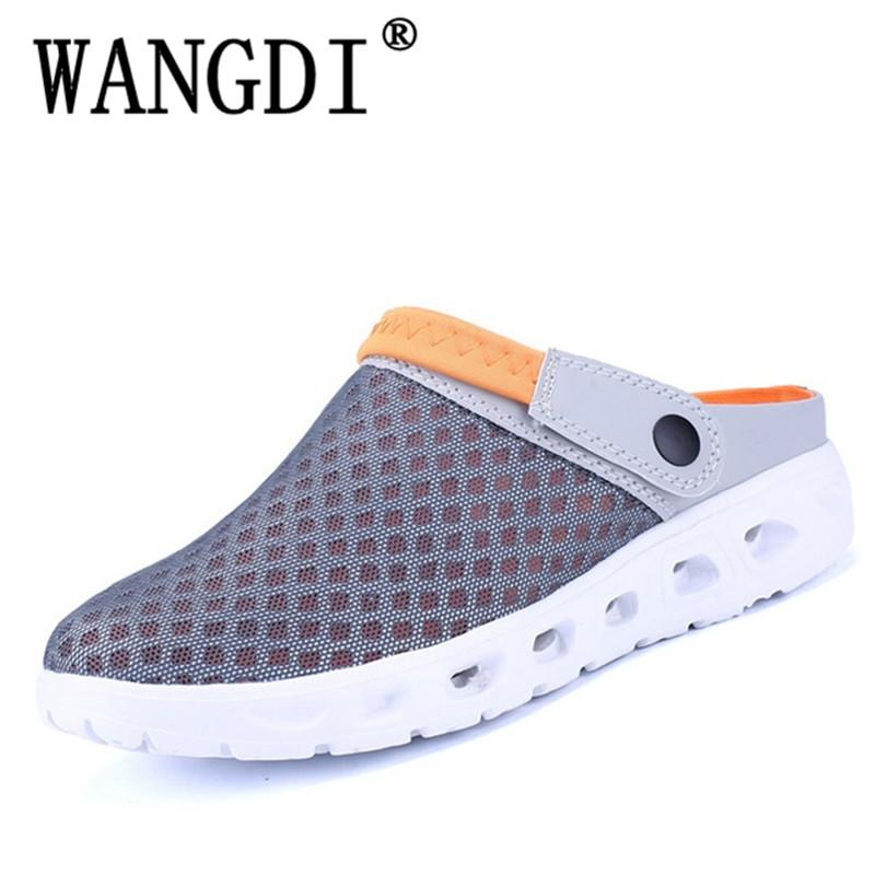 2db91db0e6ae Men Summer Sandals Breathable Mesh Sandal Summer Beach Mens Shoes Water Man  Slippers Fashion Slides Shoes Plus Size Mens Shoes Combat Boots From  Ajkobeshoes ...