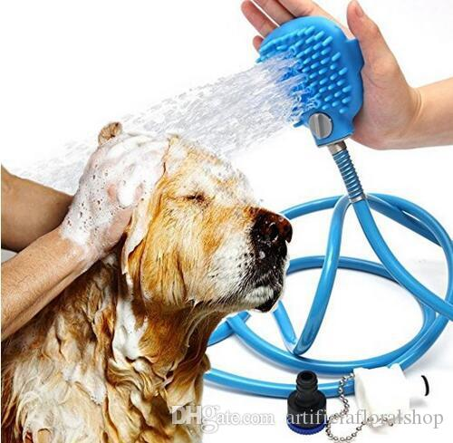 2.5M long Pet Bathing Tool Dogs Cats Bath Hair Cleaning Up Brush Silicone Shower Head Pet Supplies Cleaning Up Tools
