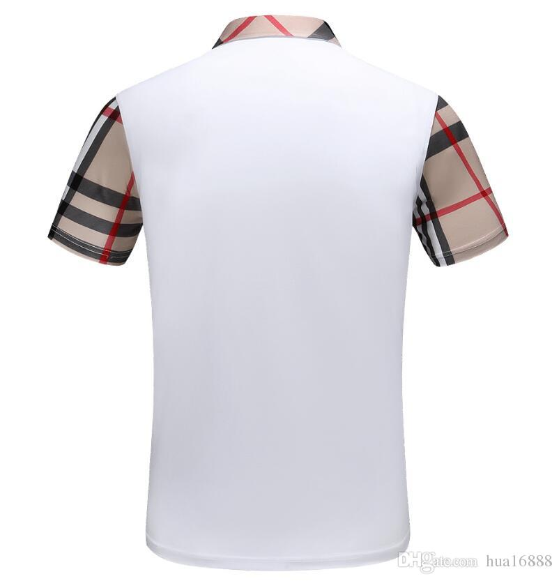 Yeni Yaz Tişörtü Moda Adam kadın casual Polos T-shirt Unisex Rahat Kısa kollu Tee marka erkek polo