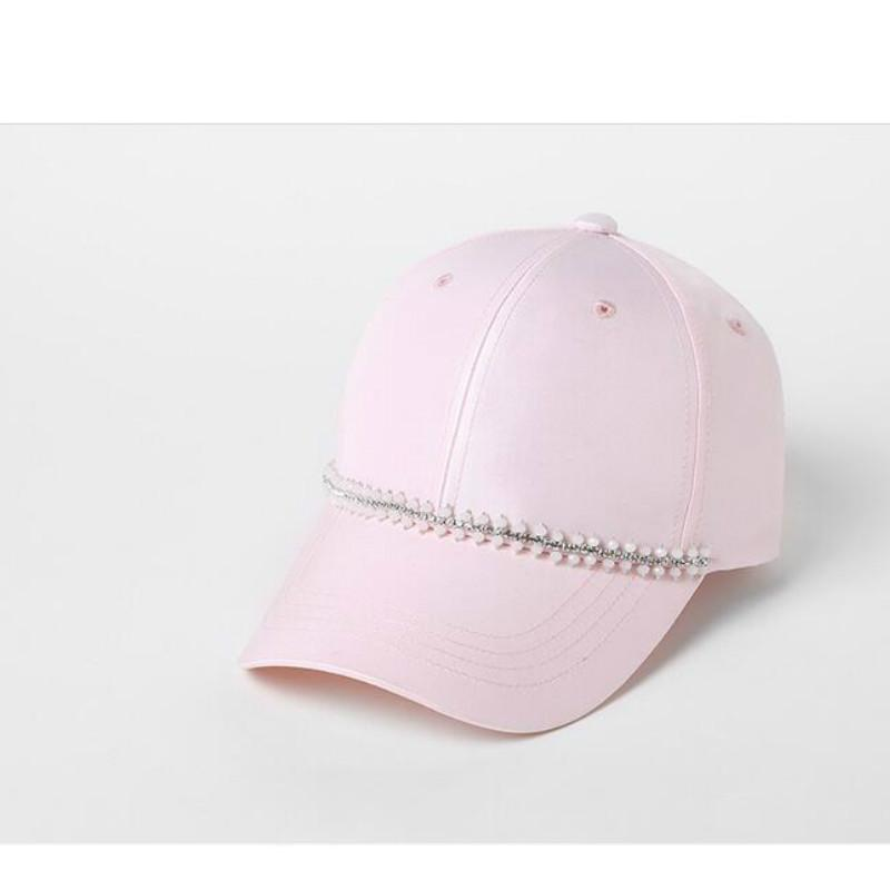 94d92e9645b8 Men s Baseball Cap Female Pure Korean Youth Hat Lady All Match Pink Peaked  Cap Trendsetter Students Travel Sun B 7110 Hat Stores Custom Trucker Hats  From ...