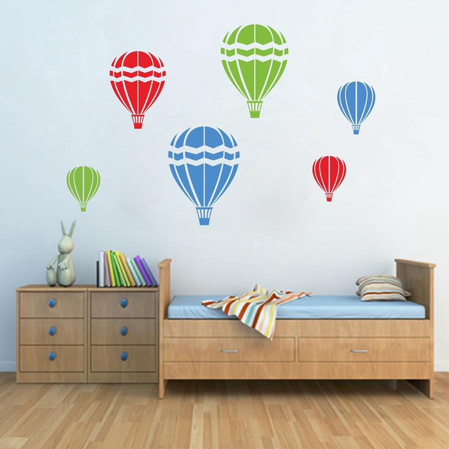 Home Decoration Posters Stickers Hot Air Balloons Wall Decal