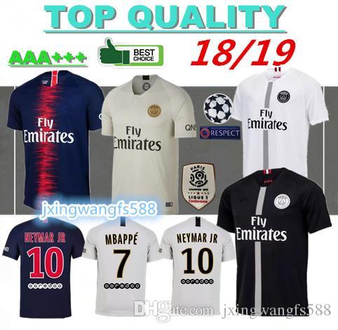 18ab69d80 2018 2019 MBAPPE Paris Soccer Jersey 18 19 Maillot De Foot CAVANI DI MARIA  DRAXLER VERRATTI PSG Football Shirts Survetement Customize UK 2019 From ...