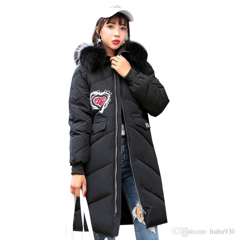 the best attitude 8076a e39df Warmer mit Kapuze Parka-Frauen-Mantel-langer Wintermantel 2018  Frauen-Jacken-starker warmer Schnee-Abnutzungs-Verdickungsbaumwolle-lose  Mantel-Frau