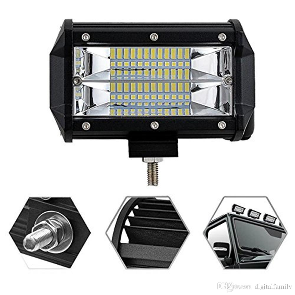 5 inch 72W CREE Chips LED Work Light Bar Offroad Flood Beam Led car Work Lights Truck SUV ATV 4x4 4WD 12v 24v Led Driving Lamp