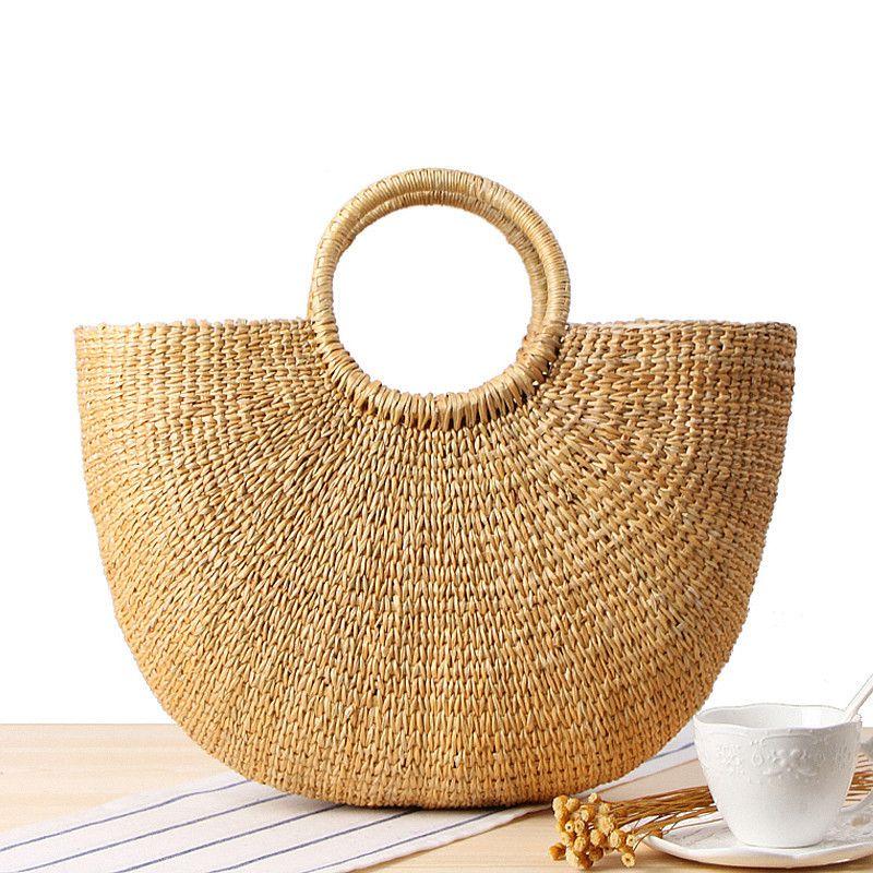 beach bag straw totes bag bucket summer bags with tassels women handbag braided 2018 new high
