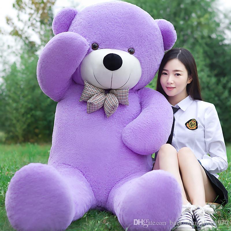 2018 Nuovo arrivo 220 CM / 2.2 M viola gigante teddy bear peluche animali bambino bambole a grandezza naturale orsacchiotto regalo di san Valentino