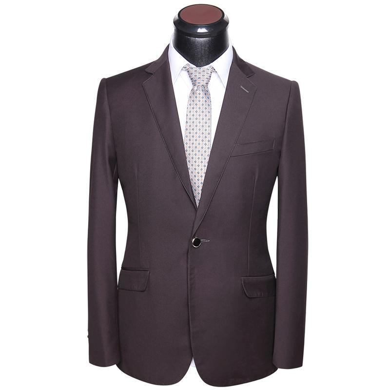 d2c641c983 Men's Business Suit 2018 High Quality Italian Stylish Mens Casual Slim Fit  Coffee Suits Set 2 Piece Coat And Pant Formal Uniform