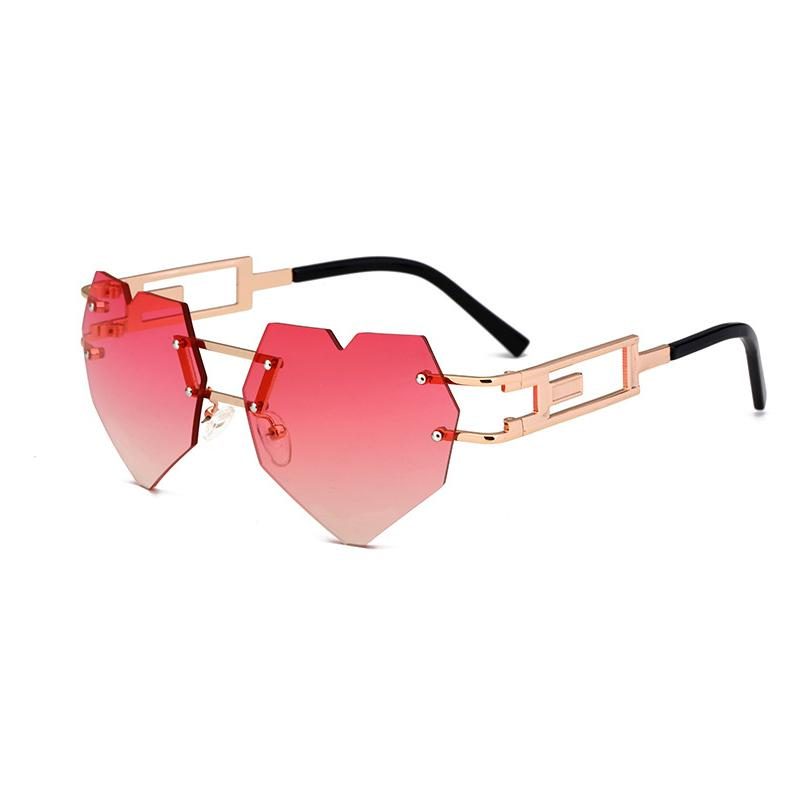 26d85381752aa Heart Sunglasses Women Hollow Metal Frame Rimless Love Shape Steampunk Sun Glasses  Clear Rose Gold Brand Cool Cat Eye Eyewear Eyeglasses Sunglasses Hut From  ...