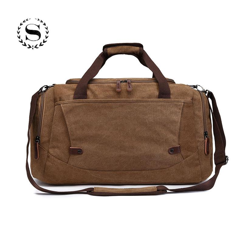 1cb58f0118 Large Capacity Canvas Travel Bag For Men Women Boys Student Traveler Solid Waterproof  Luggage Duffle Bag Suitcase Bolsa De Viaje Shoulder Bags For Women ...