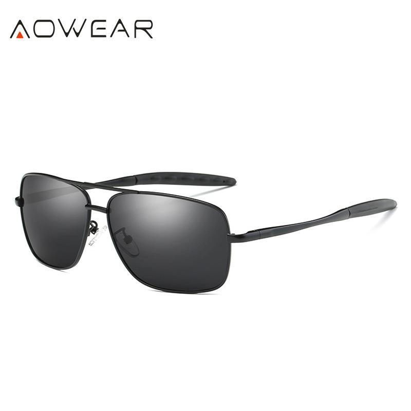Compre Venta Al Por Mayor 2018 Retro Gafas De Sol Hombre Rectángulo Gafas  De Sol Hombres Gafas De Conducción Polarizadas De Viaje De Verano Gafas  Oculos ... bab536be364d