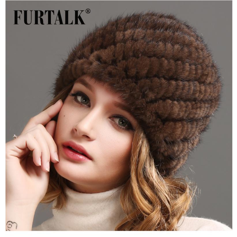 Women Russian Winter Mink Fur Hat Women Natural Fur Cap Luxury Knit Mink  Fur Hat Beanie D18110102 Trucker Hats Winter Hats From Shen8409 7b2df4ea39e3