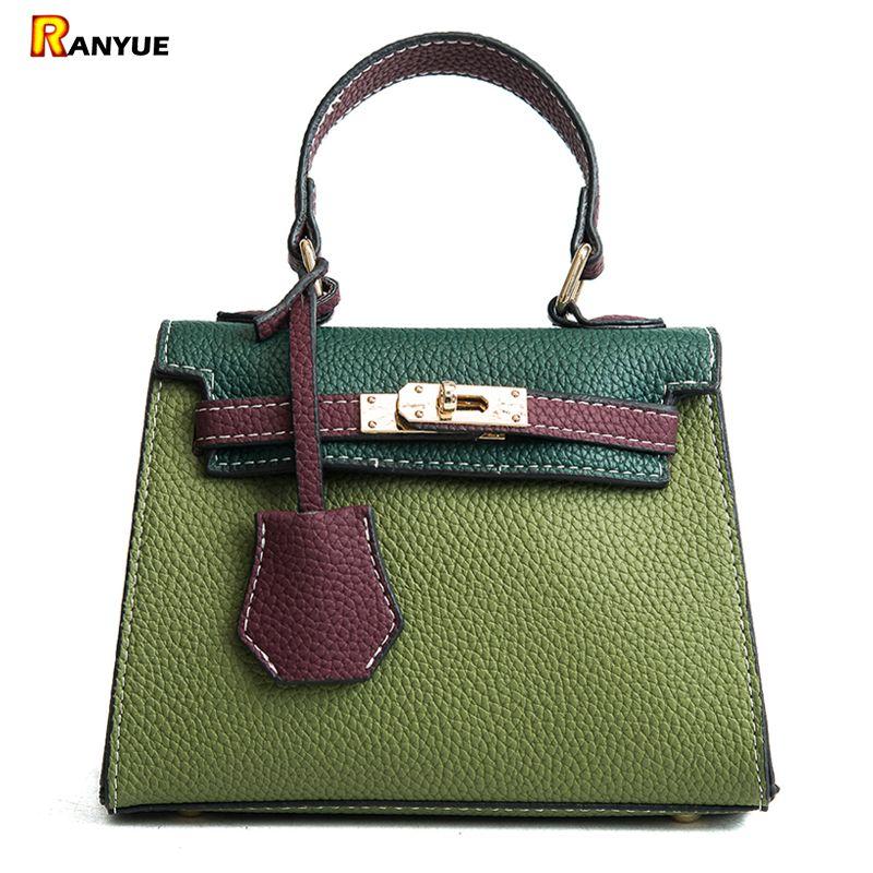 84b45aef4c Small Panelled Tote Bags For Women Leather Handbags Luxury Famous Designer  Lock Messenger Crossbody Bolsos Bolsa Feminina Girls Shoulder Bags Laptop  Bags ...