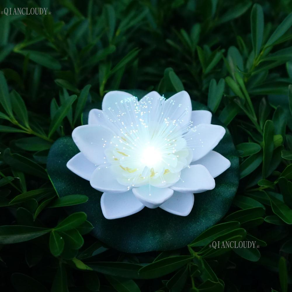 2018 decorations artificial dried flowers white artificial led optic decorations artificial dried flowers 5 pieces white artificial led optic fibre waterproof fake pond flowers light mightylinksfo