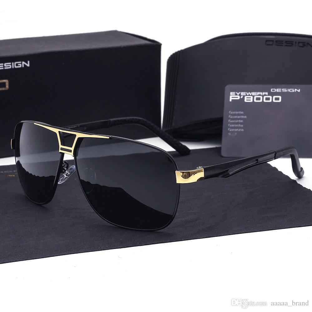 bec96993d0 Luxury Brand Aluminum Magnesium Polarized Sunglasses Men Goggles Designer  Leisure Glasses Eyewear Oculos De Sol With Cases And Box Locs Sunglasses  Suncloud ...