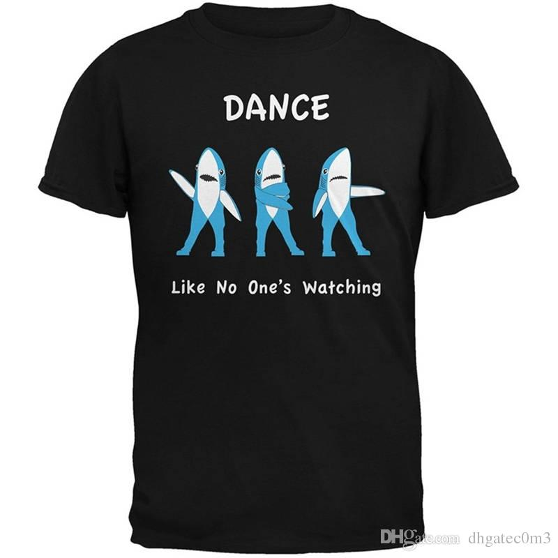 Original Tops Novelty Premium Men Crew Neck Short Sleeve Halftime Left Shark Dancing Tee Shirts