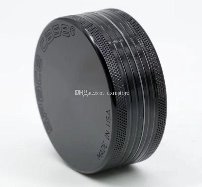 63mm 2teils Grinder Aluminium space case Grinder tabakrauch zigarette detektor schleifen rauch Tabakschleifer VS sharpstonee Fit Dry Herb