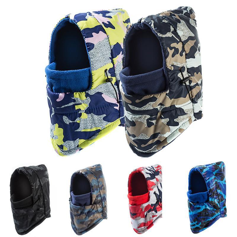 0f93d899be SANDMAN Add Wool Fleece Balaclava Women Camouflage Waterproof Winter Hat  Windproof Ski Beanie For Men Hooded Sports Face Mask Skullies   Beanies  Cheap ...