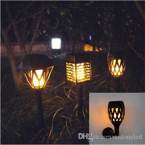Led Solaire Flamme Scintillante Pelouse Applique Usb Lumiere Dansante Lumiere Solaire Exterieure Impermeable A L Eau Jardin Decoration Lampe