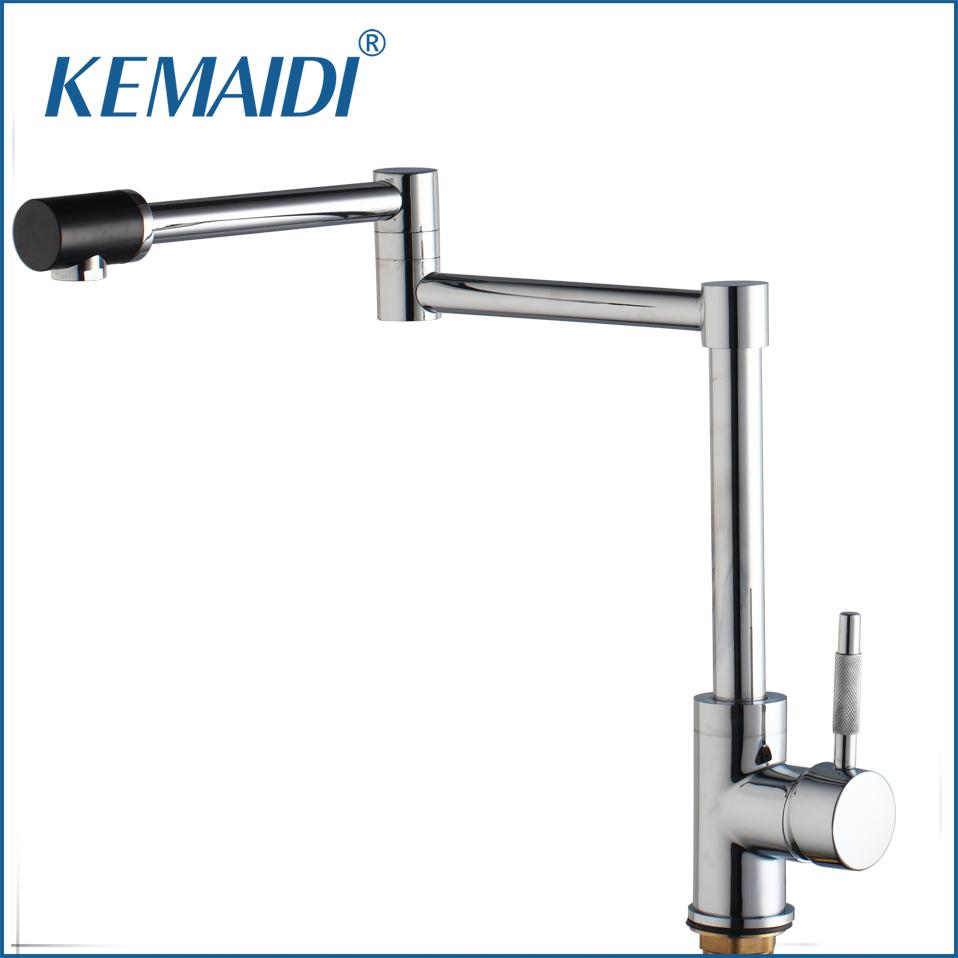 2018 Kemaidi New Chrome Finish Kitchen Faucets Deck Mount Single