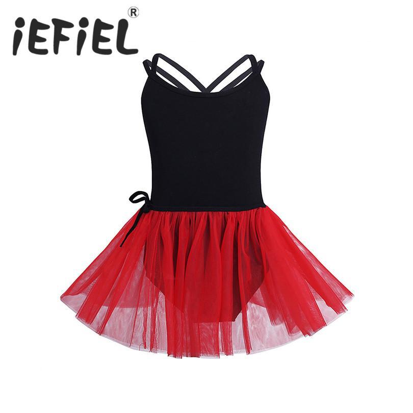 7e0944bcb735 2019 IEFiEL Kids Girls Dancewear Children Princess Ballerina Fairy ...