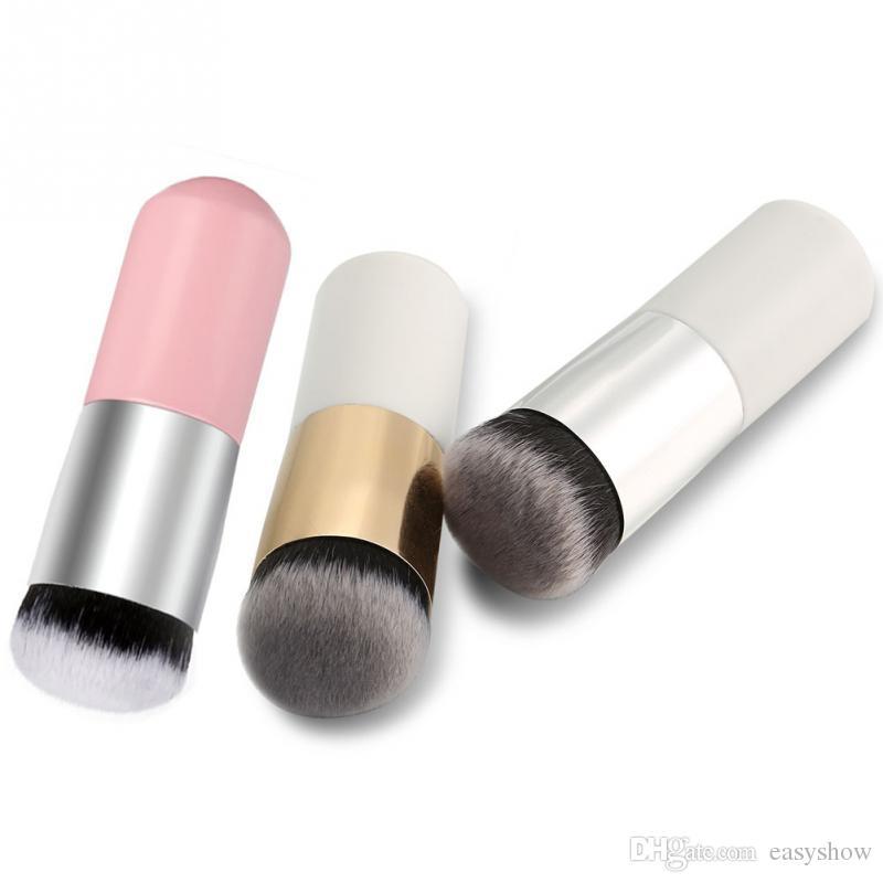 De gros! Grande tête ronde pinceaux de maquillage pour Fondation BB Crème Poudre Cosmétique Maquillage Pinceau Tête Plate Outils de Maquillage Pour Les Cheveux Doux FREE DHL