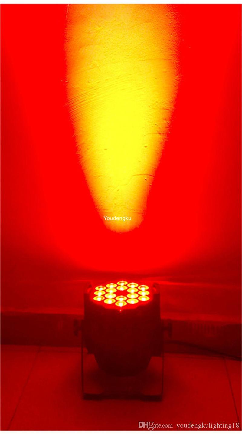 10 조각 빛 wedding18w led par64 dmx led 파 수 6in1 주도 파 램프