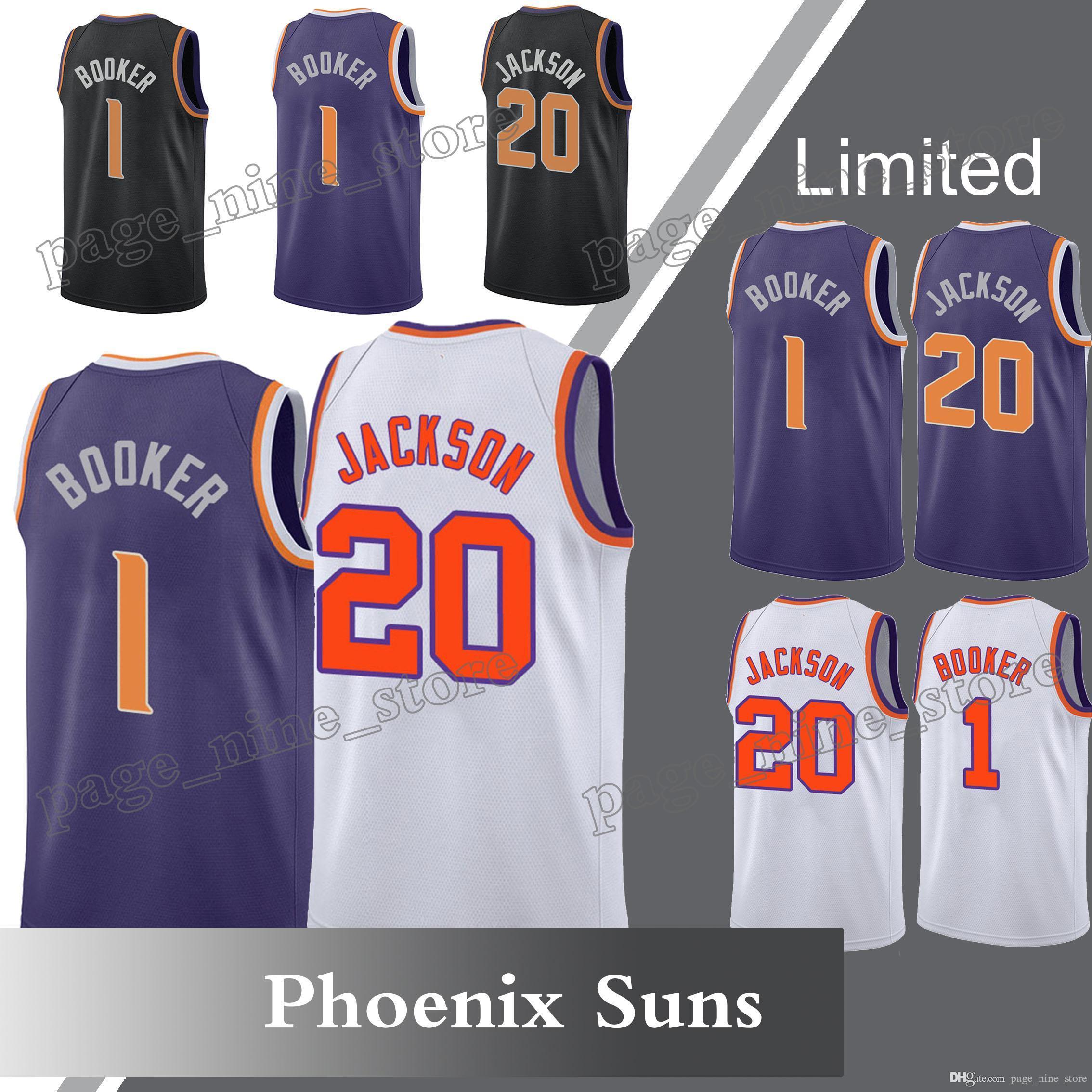 sale retailer 679dc 132e9 Phoenix Suns 1 Devin Booker jersey 22 DeAndre Ayton jersey 20 Josh Jackson  Swingman 2018 Men High-quality Free Shipping