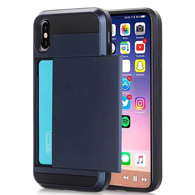 For Samsung S8 Note 8 South Korea Verus Sliding Card Mobile Phone Case Anti-drop 3 in 1 Card Slot Shockproof iPhone 6 7 8 Plus iP X cover