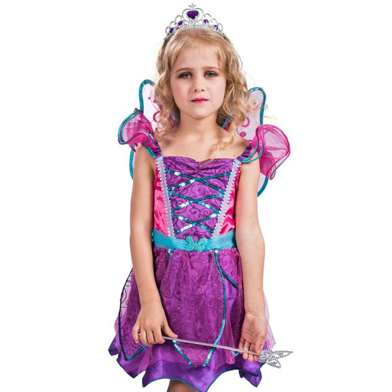 ca428b39888 Children Glamour Fantasy Forest Fairy For Neverland Fairytale Girls Fancy  Dress Halloween Costume