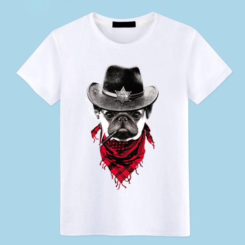 40cdfda139d1 100% Cotton Black White T Shirt Funny T Shirt Dog Print O Neck Loose Short  Sleeves Mens Clothes Plus Sizes Tee TS0034 T Shirts Only Awesome Tee From  Tayler, ...