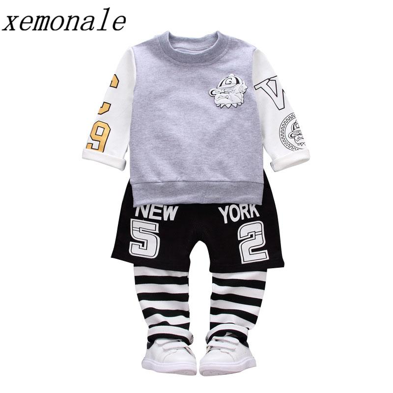7710994553b9 2018 New Pure Cotton Children Boys Girls Sport Clothing Sets Baby T ...