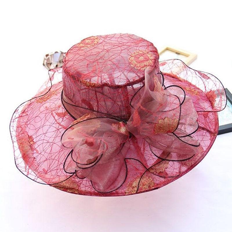 75515240485ac Elegant Fashion Women s Lace Hats For Women Flower Hat Summer Gorras Sun Hat  Wedding Derby Wide Brim Sea Beach Floppy Hats Black Floppy Hat From  Wutiamou