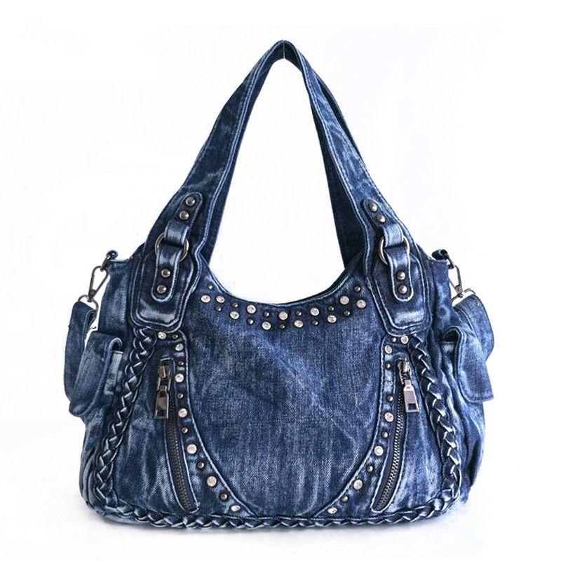 f5a23937306c IPinee Brand Women Bag 2017 Fashion Denim Handbags Female Jeans Shoulder  Bags Weave Design Women Tote Bag Crossbody Purse Cute Purses From  Xuxionghua