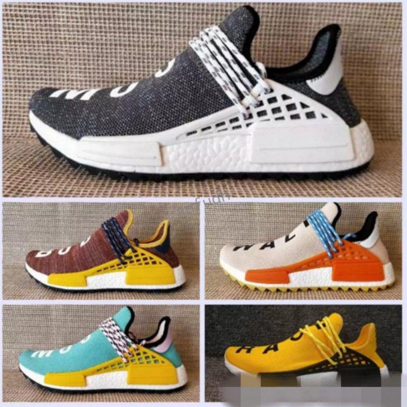 754114cf4 2018 Pharrell Williams Nmd Human Race Running Shoes Hu Trail Cream Core  Black Nerd Equality Holi Nobel Ink Trainers Men Women Sports Sneaker Mens  Sneakers ...