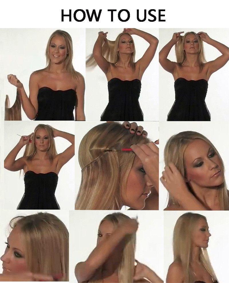Popular New Type Flip Human Hair Extensions 100gpiece Brazilian
