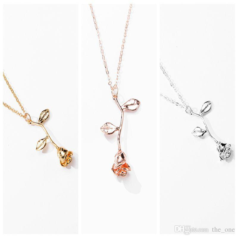 Pink Gold Rose Flower Statement Necklace Women Girls Kids Charm Maxi Choker  Boho Jewelry Valentines Day Gifts For Girls Jewelry For Baby Boy Gold  Bracelets ... 75a3964ab984