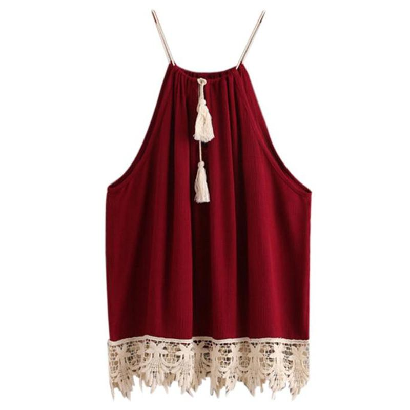 6551957b5df 2019 Womail Lace Trimmed Tasselled Drawstring Blouse Tank Tops 2018 Womens  New Camisole Vest Tank Top Mujere Drop Shipping 6.JULY.19 From Sandlucy, ...