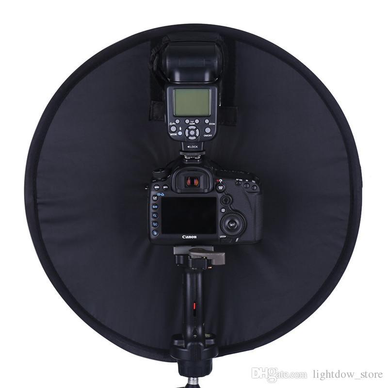 Lightdow 45cm Foldable Ring Speedlite Flash Diffuser Macro Shoot Round Softbox for Canon Nikon Sony Pentax Godox Speedlight
