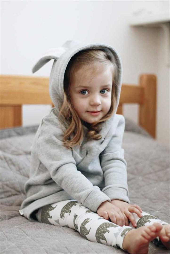 9819ffb2b7a1 2019 Baby Girl Kids Cute Rabbit Ear Bunny Hoodies Coat Jacket Long ...