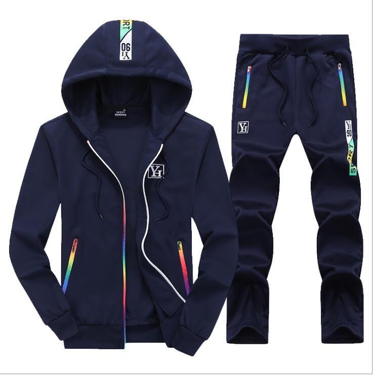 99933e2c80e66 Satın Al Açık 2018 Yeni Erkekler Spor Suits Toptan Mens Setleri Giysileri  Kalın Hoodies Kış Ceket Spor Koşu Suit, $39.6 | DHgate.Com'da