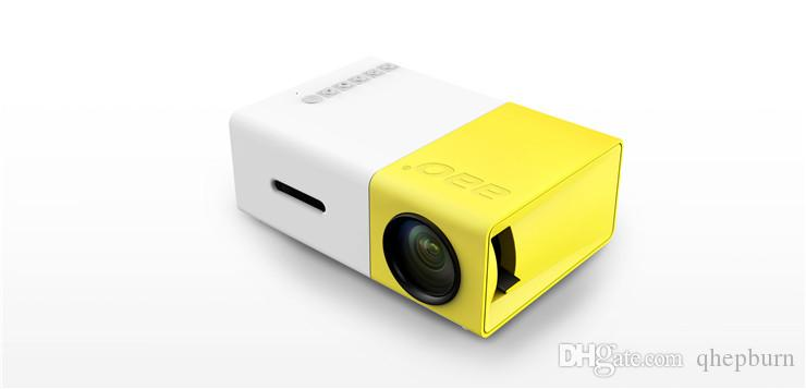 New YG300 home HD mini led micro projector, HDMI high-definition interface, mobile phone portable battery projector.Hot sale!