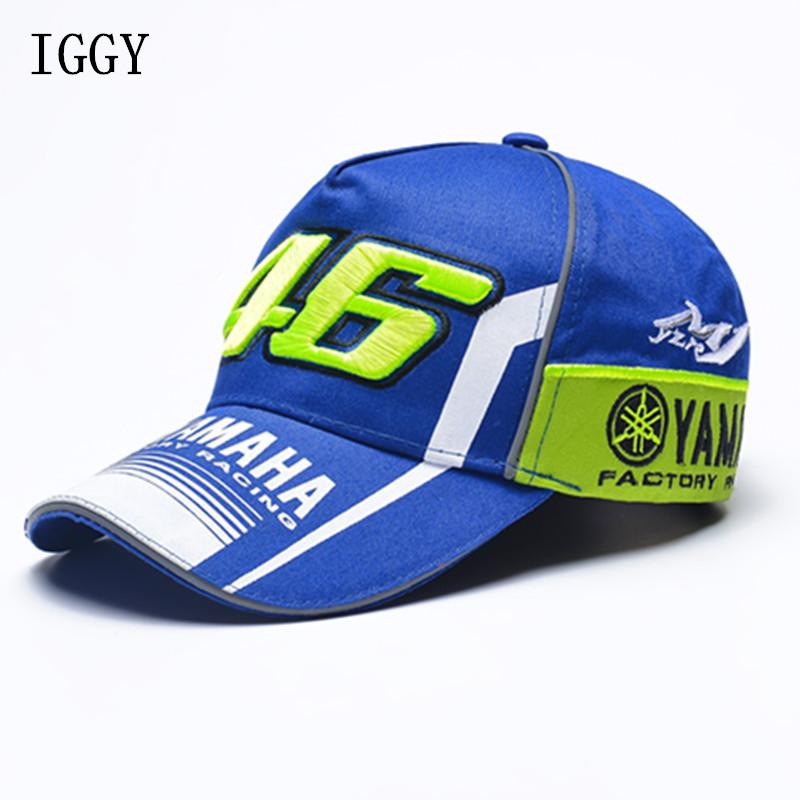 IGGY Brand New Rossi VR46 Baseball Cap MOTO GP 46 Motorcycle 3D Racing  Embroidered Cap Men s Women Snapback Caps YAMAHA Hat Yamaha Hat Cap Moto Cap  Moto Gp ... e3e1d7267f5c