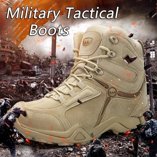 ec6b87c23c37 Men Outdoor Ankle Boots Army Tactical Waterproof Hiking Boots Military  Desert Combat Mountain Climbing Anti-skid Hiking Boots Online with   70.86 Piece on ...