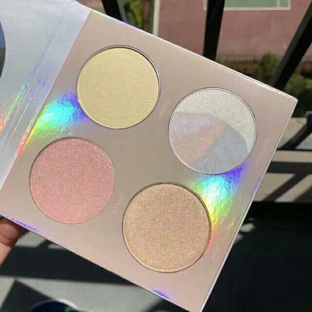 Nagelneue VENUS-MARMOR-Kosmetik-Gesichts-Bronzer-Leuchtmarker-Palette 4 Farben Neu im Kasten DHL geben Make-up frei