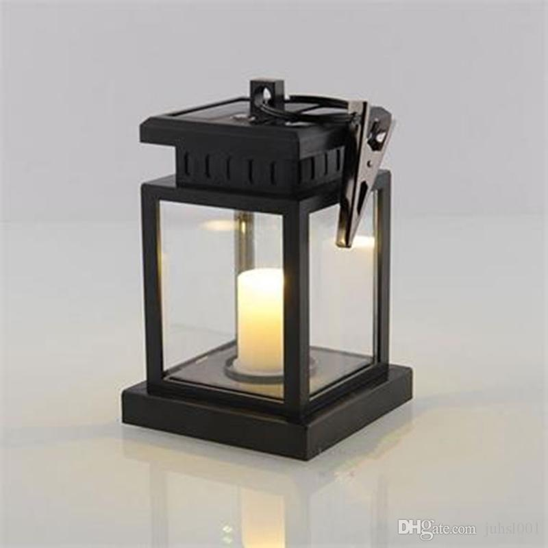 Acheter Style Européen Lampe Solaire Led Bougie Lanterne Patio ...